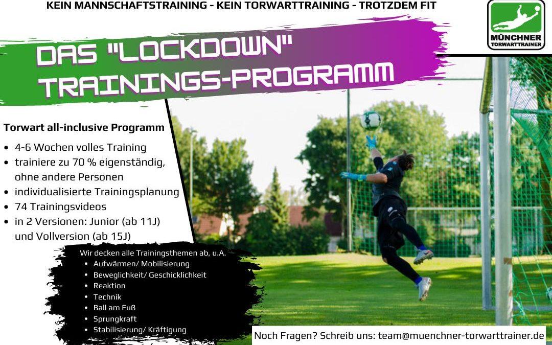 Lockdown Trainingsprogramm für Torwarte 2020