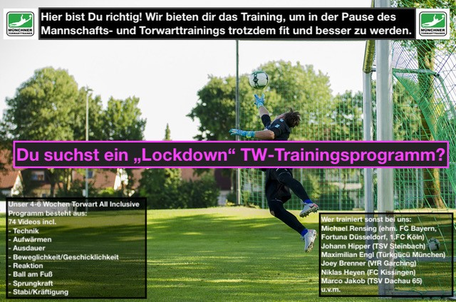 Lockdown Trainingsprogramm für Torwarte 2020